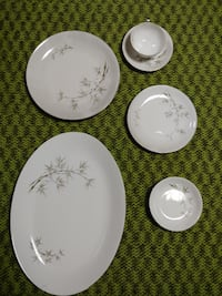 SEYEI 1552 CHINA JAPAN BAMBOO GARDEN CHINA DINNERWARE Set Of 8