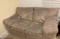 Love seat with recliner