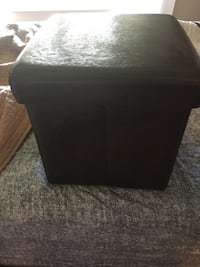 Brown faux leather storage cube Calgary, T2T 1Y7