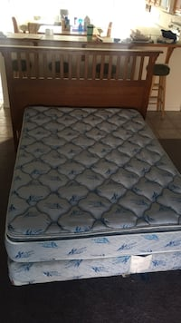 quilted gray and black floral mattress