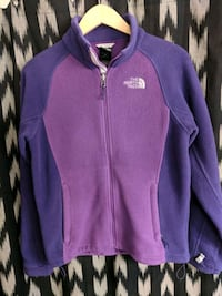 purple and gray The North Face zip-up jacket Pekin, 61554