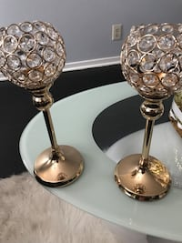two stainless steel candle holders West Palm Beach, 33413