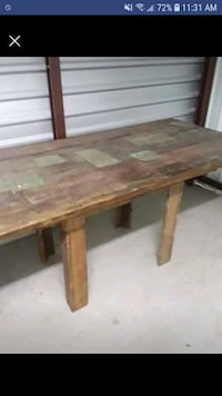 Rustic Outdoor Table-w/ or Without Chairs Hewitt, 76643