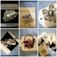 6 beautiful studded brooches,$3 each Mississauga, L4Z 3M4