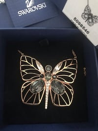 silver and black butterfly pendant necklace Laval, H7W 3L8