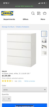 Like brand new IKEA MALM DRESSER! Only used for 6 months