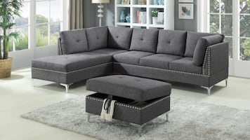 Bran New Sofa Sectional & Ottoman - Available Delivery