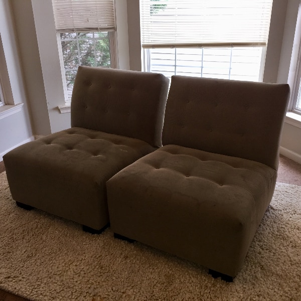 Matching Tate Chairs from Crate & Barrel