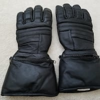 Padded leather motorcycle riding gloves 29 mi