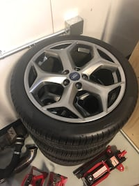 Ford 18 inch snow flakes finished in titanium, mint condition with tpms, fitted with like new all weather pirelli pzero tires. Only bery slight marks but no damage North Chesterfield, 23237