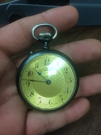 round gold-colored pocket watch Roanoke, 24012