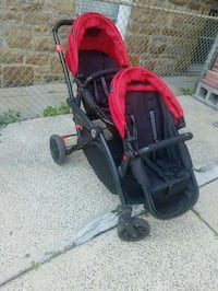 baby's black and red twin stroller Yonkers