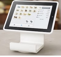 Square Stand and card reader and large white cash drawer brand new I have two sets of them great pos (iPad not included) London, N6B
