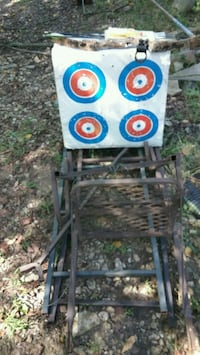 Bow, target,  deer stand,  arrows, deer scent