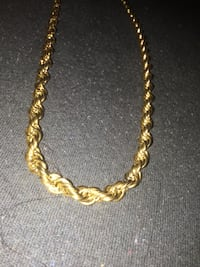 Gold rope chain with pendent Edmonton, T6X 1R8