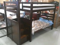 Wooden bunkbed with stairs and drawers on clearanc Toronto, M9W 1P6
