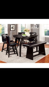 black wooden dining table set Miami, 33145