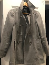 Light Grey Pea Coat - Size M Ottawa, K1T 3L3