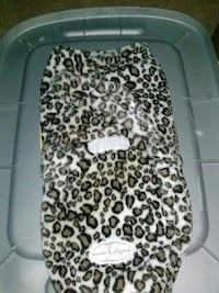 black brown and white leopard cushion