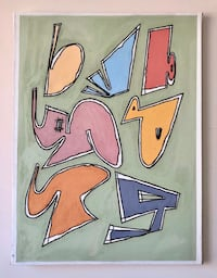 Original abstract painting (acrylic, 30x40 inches) New York, 10025