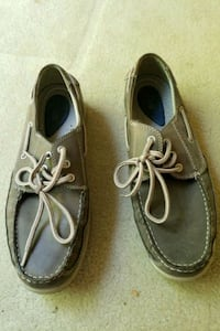 Bass Boat Loafers Hook Moc Toe Brown Leather