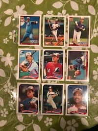 9 Expos Baseball Cards From 1980s