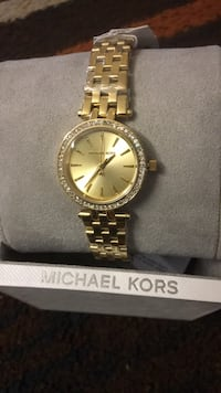 round silver Michael Kors analog watch with link bracelet Irving, 75062