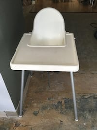 white and gray high chair Palo Alto, 94306
