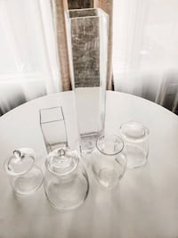 Glass vases and jars Edmonton