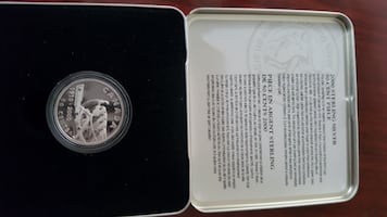 2000 sterling silver 50 cent piece.