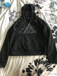 Black and white adidas pullover hoodie Odessa, 79762