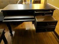 black wooden single-pedestal desk Silver Spring, 20906