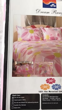 pink and white floral bed sheet set Fairfax, 22033