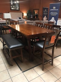 6 Pc Dinette Set with Bench  Norwalk, 90650
