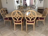 Four white wooden chairs with white pads Camarillo, 93012
