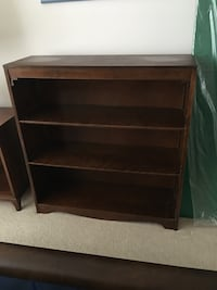 MOVING TMRW - must sell today - solid wood bookcase (oops should have dusted it) Brampton, L6S 1Z6