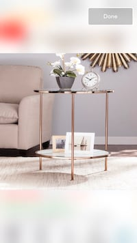 Gold round accent table Boston, 02116