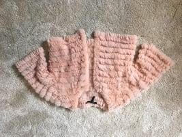 Bcbg fur cardigan
