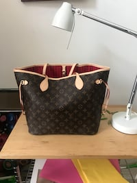 black and brown Louis Vuitton leather tote bag Chicago, 60622