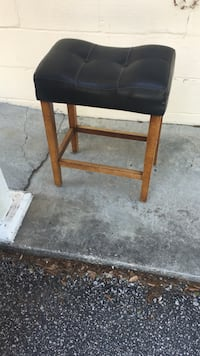 rectangular black and brown wooden table