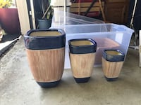 two brown and black plastic containers Hilliard, 43026