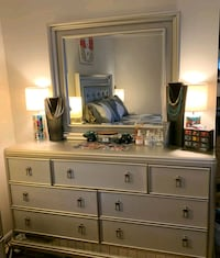 Platinum Finish Dressor with Mirror