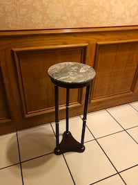 Round black wooden side table Mercedes, 78570