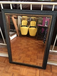 rectangular brown wooden framed mirror Montgomery Village, 20886