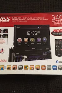 Boss audio system 340 WATTS touch screen with remote Crystal, 55429
