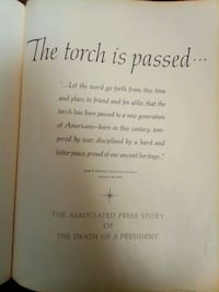 PRESIDENT KENNEDY DEATH BOOK THE TORCH IS PASSED