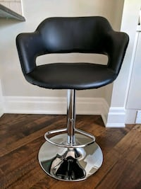 black leather padded rolling chair x2 bar stools Toronto, M5M 2R6