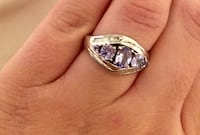 Sterling silver ring with real diamonds Toronto, M2R 3N1