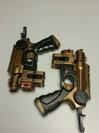 Custom Steampunk cosplay nurf guns.