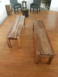 """Real wood benches 69"""" x 16"""" 2 pieces Toronto, M6N 3G7"""